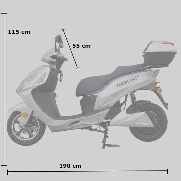 Medidas moto electrica Berlin Fotona Mobility